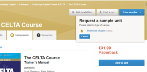 how to get a free preview of the celta course book - books to prepare for the CELTA course