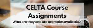 celta course assignments what and are examples available